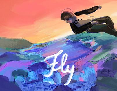 Animated music video «Fly» Clockclock 2020