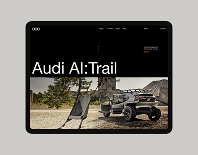 Audi AI:Trail Website Concept