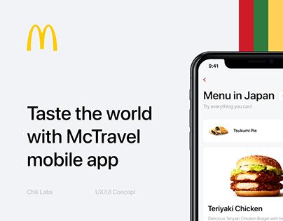 McTravel App – Taste the world