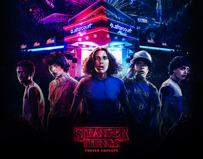 Stranger Things Poster Concept & Animation