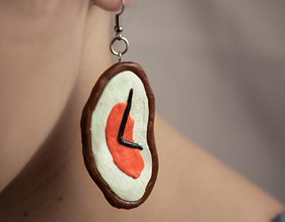 Melting Clock Earrings