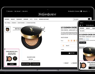 Campaign for Yves Saint Laurent - Banner Design