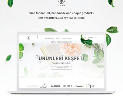 Natura - E-commerce Web Design