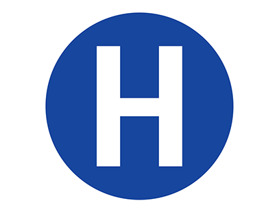 Hospital Circle badge with H