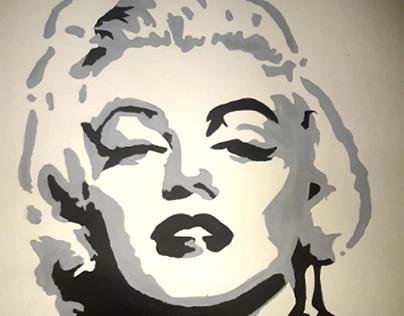 Marilyn Monroe in Paint