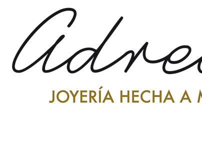 Tarjeta de visita para Adrede Joyería