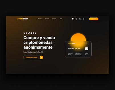 CRYPTOBLOCK | Landing Page | Cryptocurrency