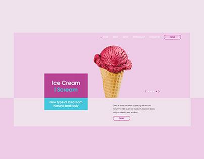 Icecream Landing Page design concept