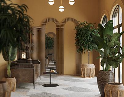 Art Deco Veranda Design and Rendering