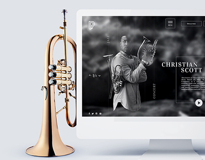 Philharmonie de paris webdesign -concept