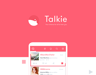 Talkie App Design (for Android)