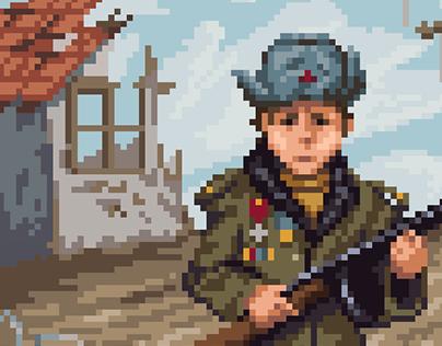 WW2 Russian kid soldier