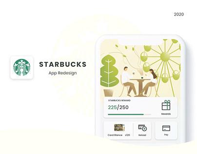 Starbucks App UI/UX Redesign 2020