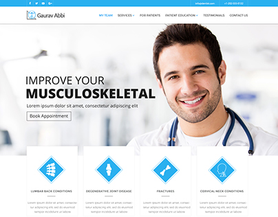 Site for a leading Doctor