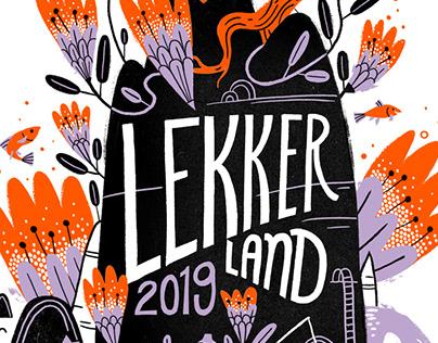LekkerLand Tshirt design