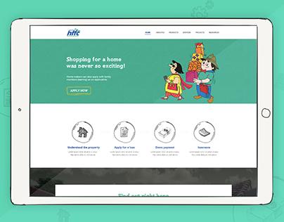 Finance Website Design Concept