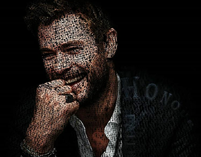typography Chris Hemsworth