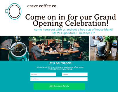 crave coffee logos, social media, icon set
