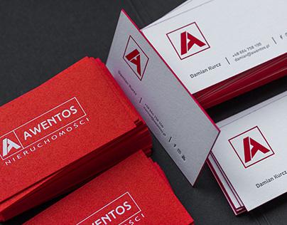 Awentos Real Estate business cards