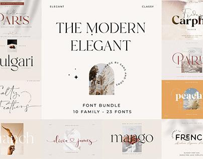The Modern Elegant Font Bundle