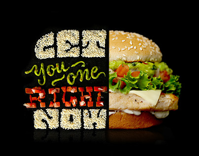 McDonald's Signature Classics Food Typography