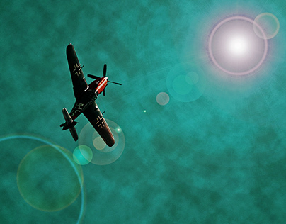 Aircraft above.