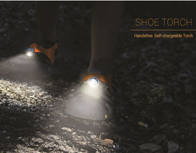 Self-chargeable Shoe Torch