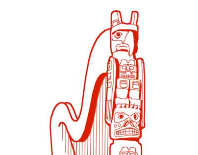 11th World Harp Congress Logo Design