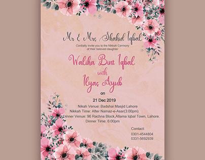 Wedding E-card Design