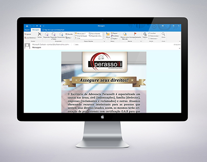 Law firm e-mail MKT | Text layout & Image editing