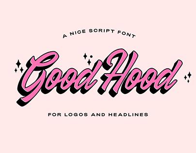 GoodHood Script Free Font