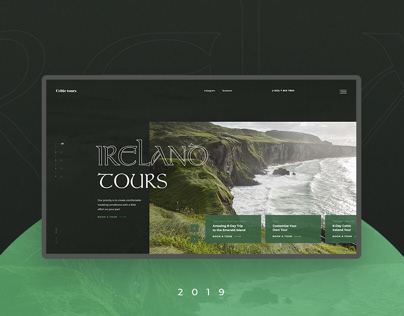 Ireland Tours // Travel Website Concept