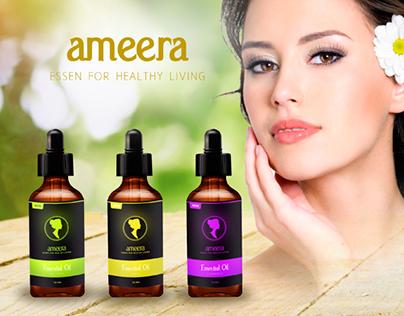 Ameera Essential Oil Packaging Design