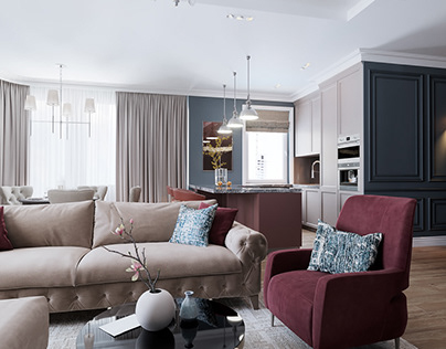 Living room/Kitchen (Moscow, Russia)