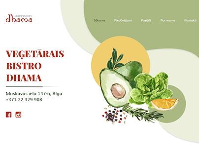 "Vegetarian cafe ""Dhama"" web design version - 1"