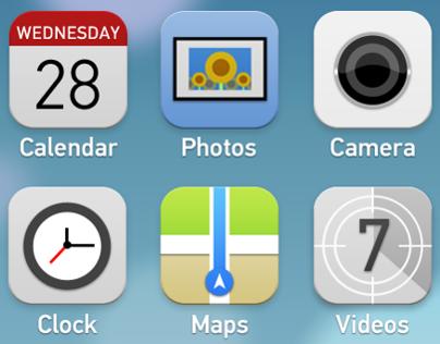 iOS 7 icon rework