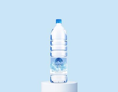 Free Water Bottle Mockup PSD
