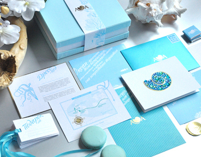 Unique Wedding Invitation & Stationary: Heart of Ocean