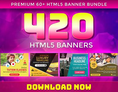 Premium Banner Bundle- 420 HTML5 Ad Templates
