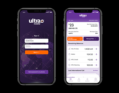 Ultra Mobile Customer App