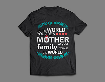 Mother's day t-shirt design
