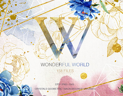 Wonderful Watercolor and Vector set SVG PNG EPS JPG