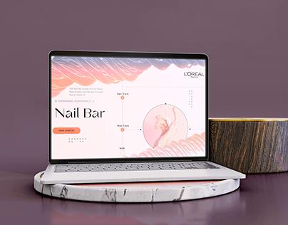 Сайт для салона красоты Nail Bar