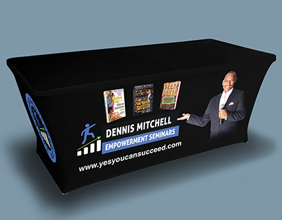 Table cover for book promotion