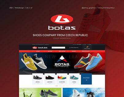 UI & UX design of shoes shop - BOTAS