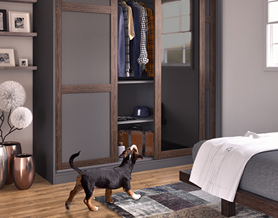 3D Visualization of wardrobe to furniture catalogue