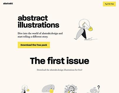 Landing page design for abstrakt.design