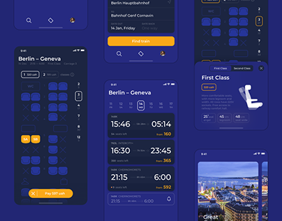 Concept App for Ukrainian National Railway Company