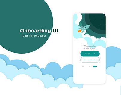 Onboarding App UI
