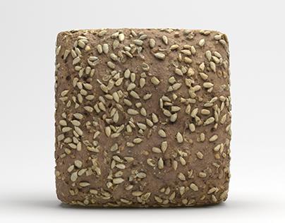 Sunflower Seed Bread 3D Model